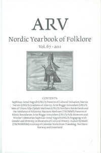 Arv - Nordic Yearbook of Folklore Vol. 67 - 2011