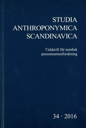 Studia Anthroponymica Scandinavica 2016